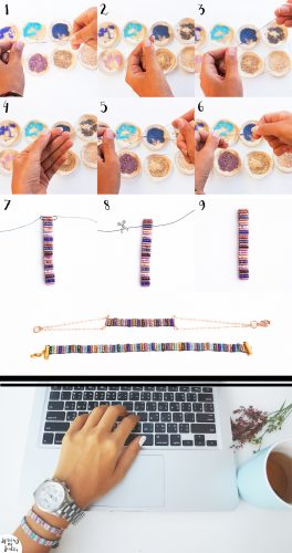 etapes tissage bracelet buggles (etapes)