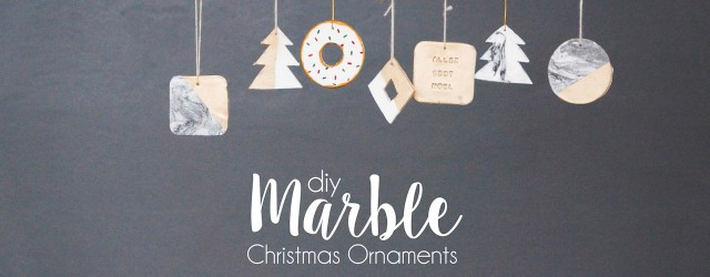 DIY christmas marble ornaments banner