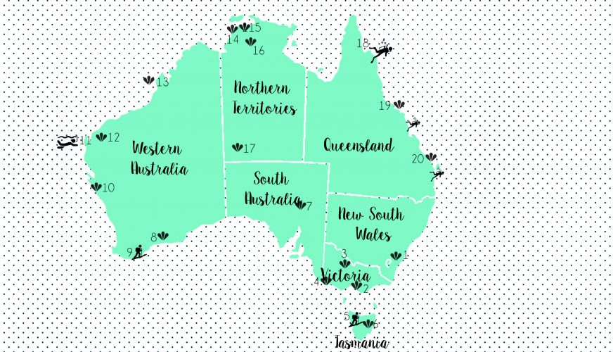 Map australia HIGHLIGHTS