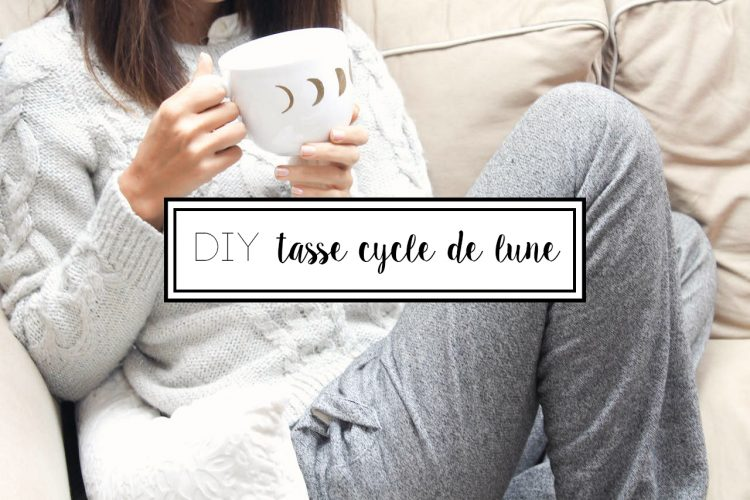 DIY tasse cycle de lune banner