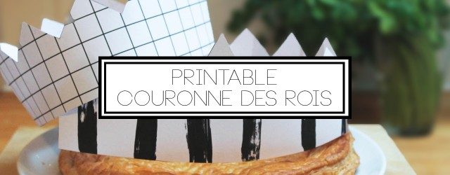 couronne galette des rois BW printable - banner
