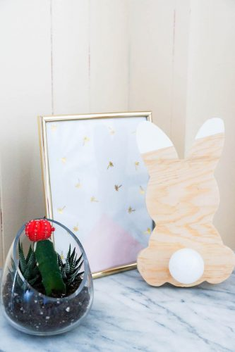 diy lampe lapin spring in fialta. Black Bedroom Furniture Sets. Home Design Ideas