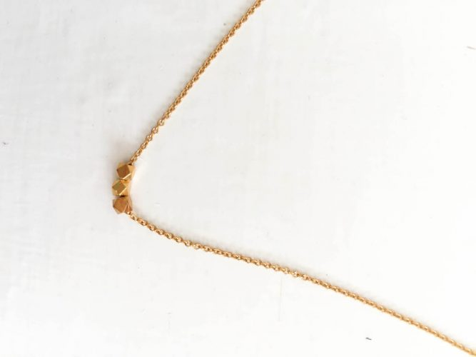 gold product jewelry original chevron her simple necklace fashion for gift unique geometric
