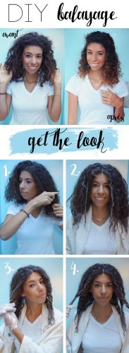 DIY balayage step by step photos