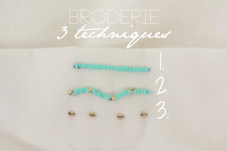 broderie 3 techniques