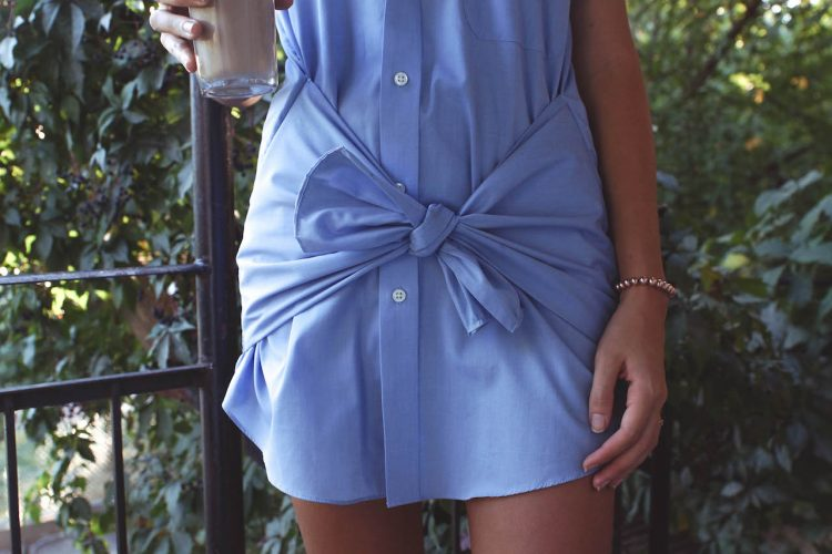 DIY men's shirt dress