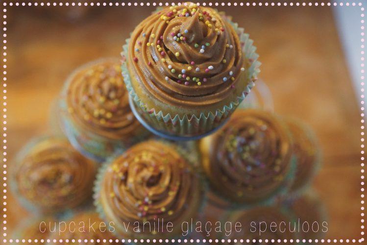 Cupcakes vanille avec glaçage speculoos