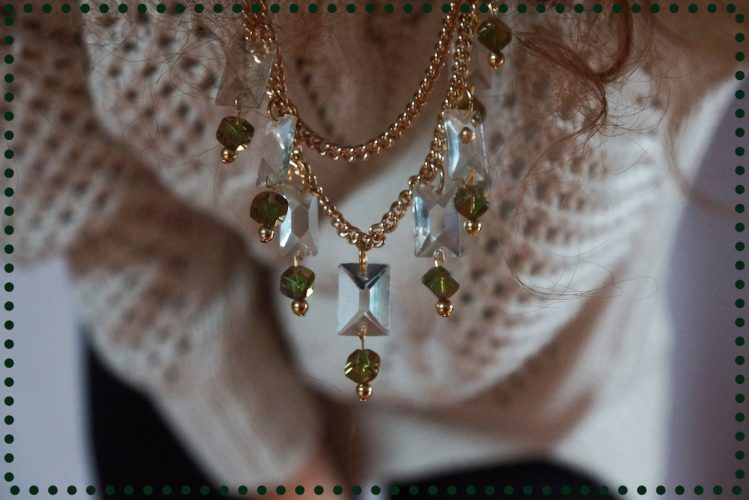 DIY : Collier cristal, gold & green