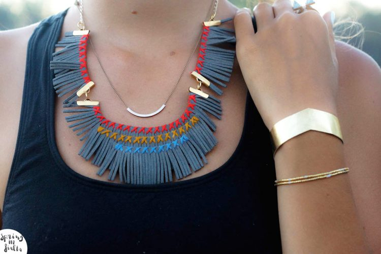 DIY : Fringe Necklace