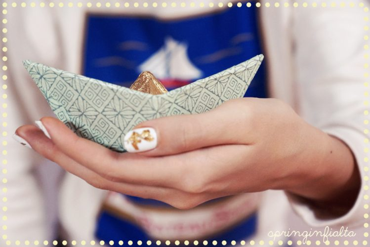 DIY : Little gold and mint boat