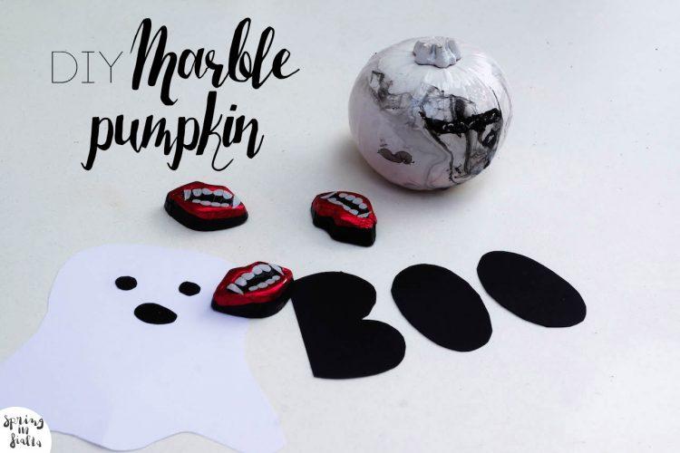 DIY Marble Pumpkin (using nail polish!)