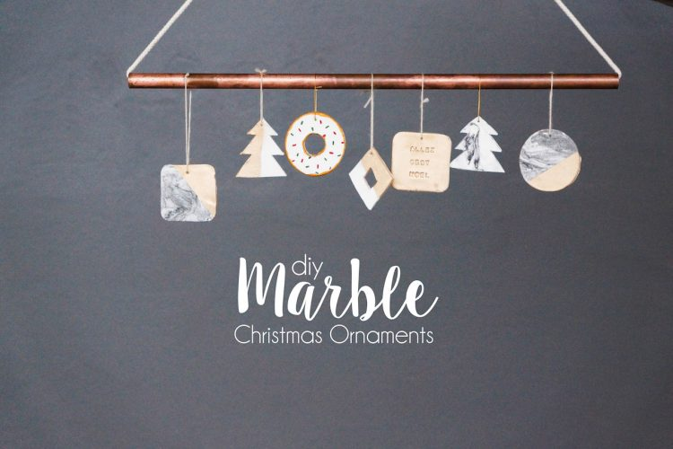 DIY Marble Christmas Ornaments (using kitchen ingredients)