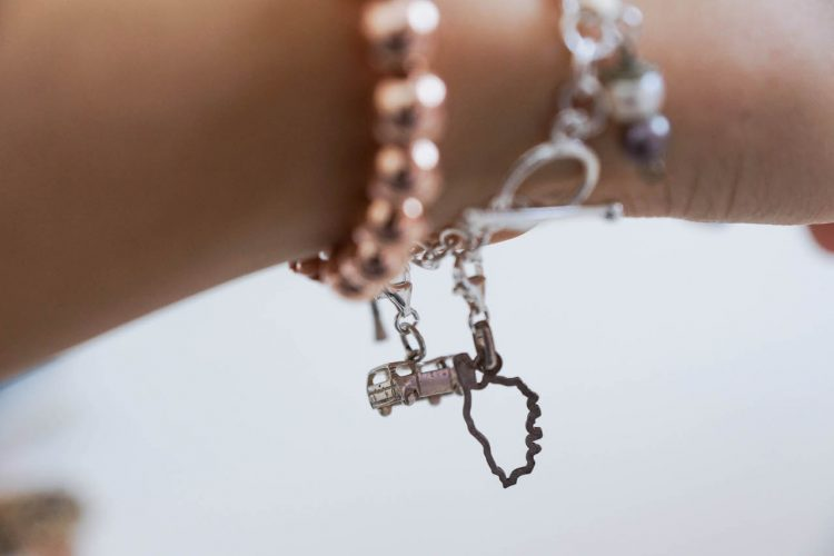 DIY travel charm bracelet