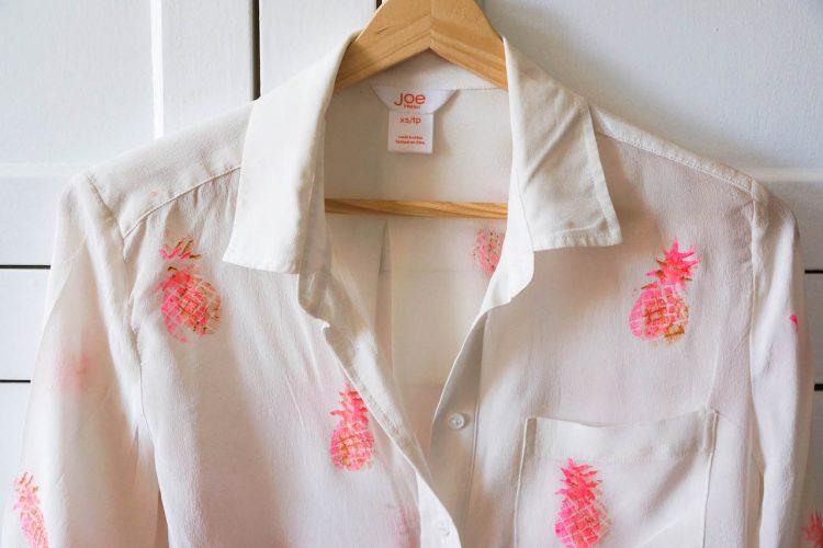 DIY chemise imprimé ananas ?