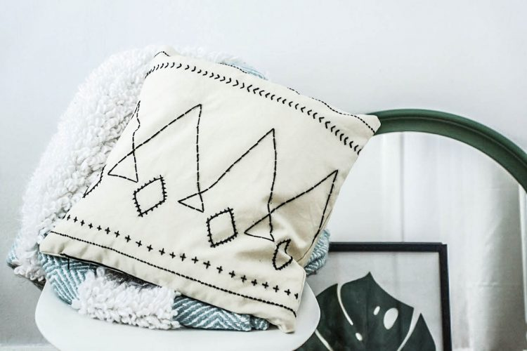DIY berber style cushion
