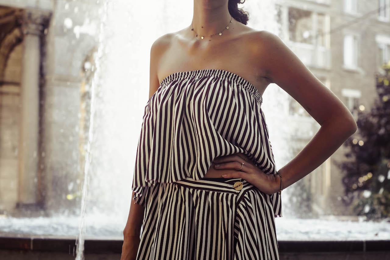 DIY robe deux pièces : Jupe + haut bandeau