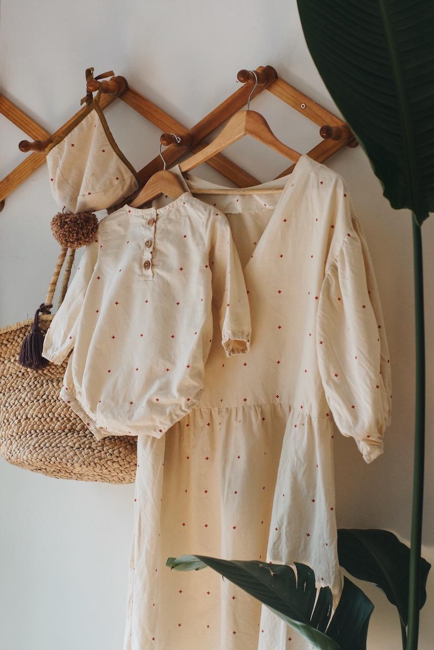 DIY Robe manches bouffantes (Upcycle d'une housse de couette)