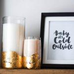 DIY bougies feuille d'or (parfait à offrir comme cadeau)